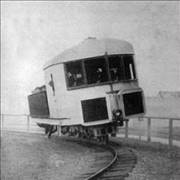 Gyroscopically Balanced Monorail in 1907