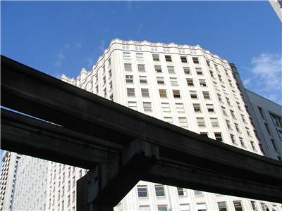 Monorail Tracks in Seattle