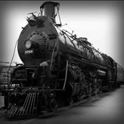 Old Black Steam Locomotive